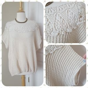 Areve Dolman Lace Pullover